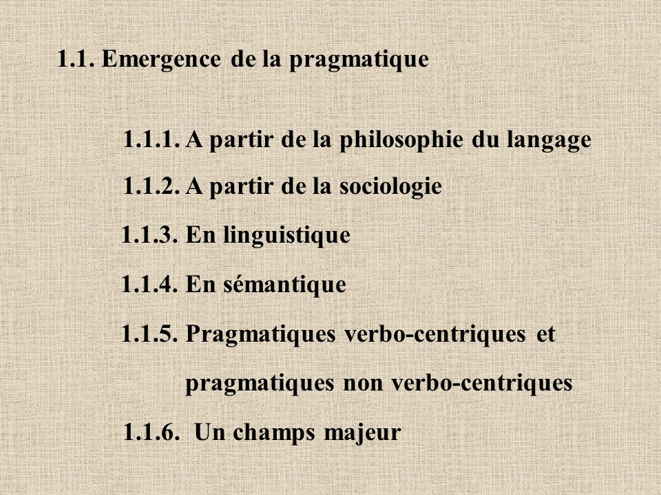 1.1. Emergence de la pragmatique