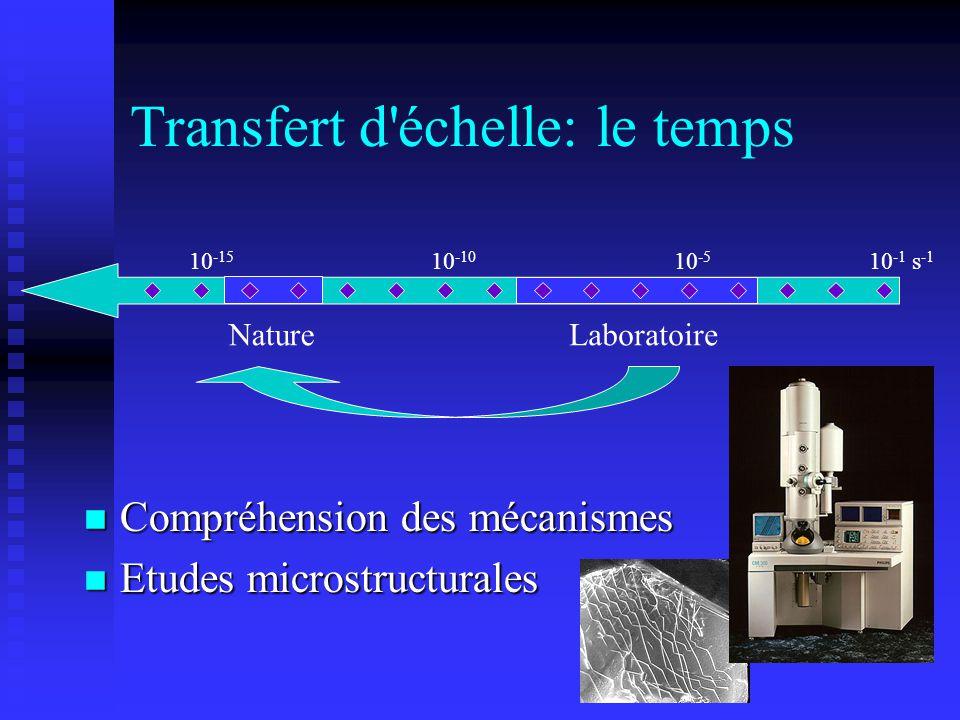 Transfert d échelle: le temps