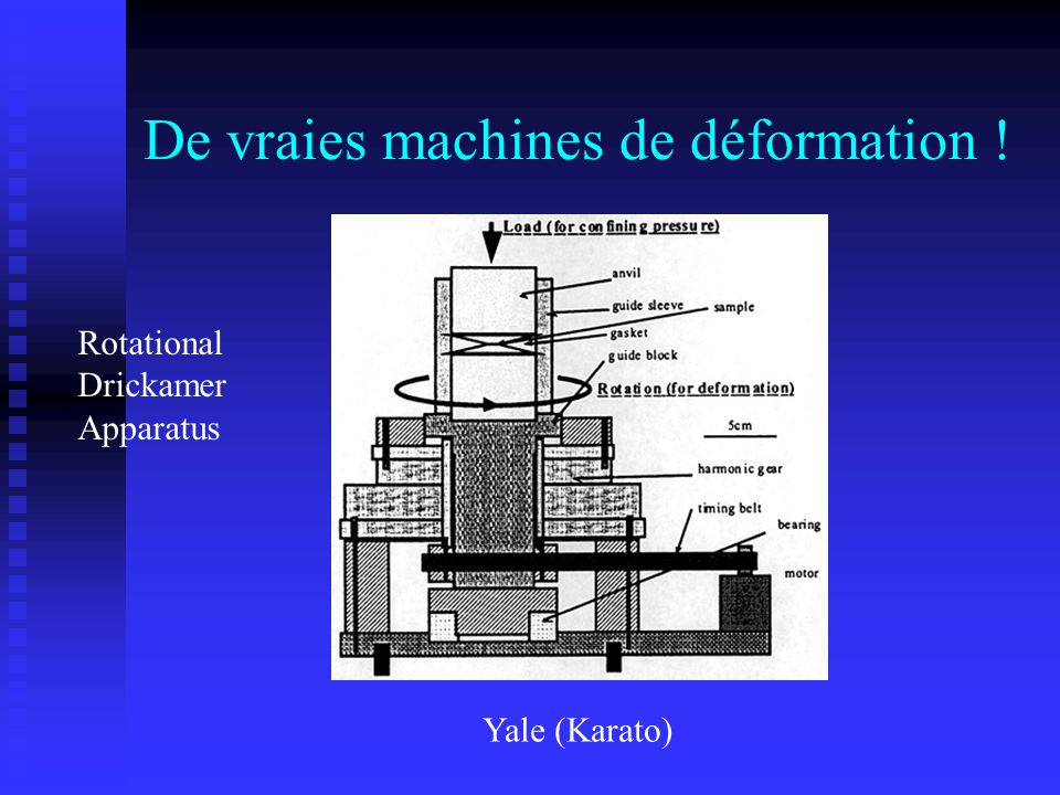 De vraies machines de déformation !
