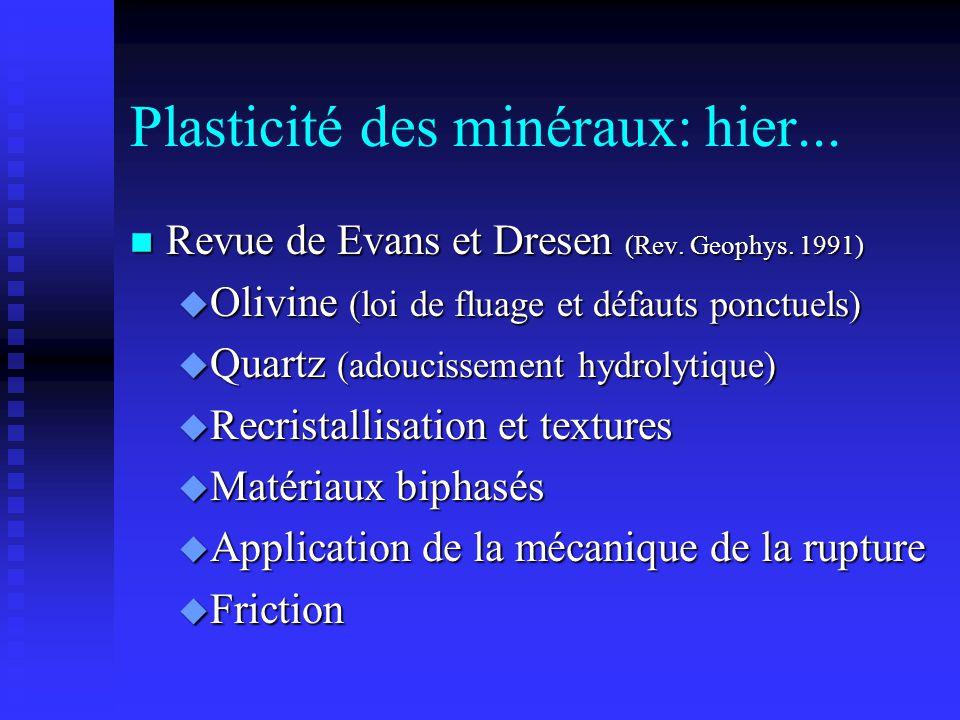Plasticité des minéraux: hier...