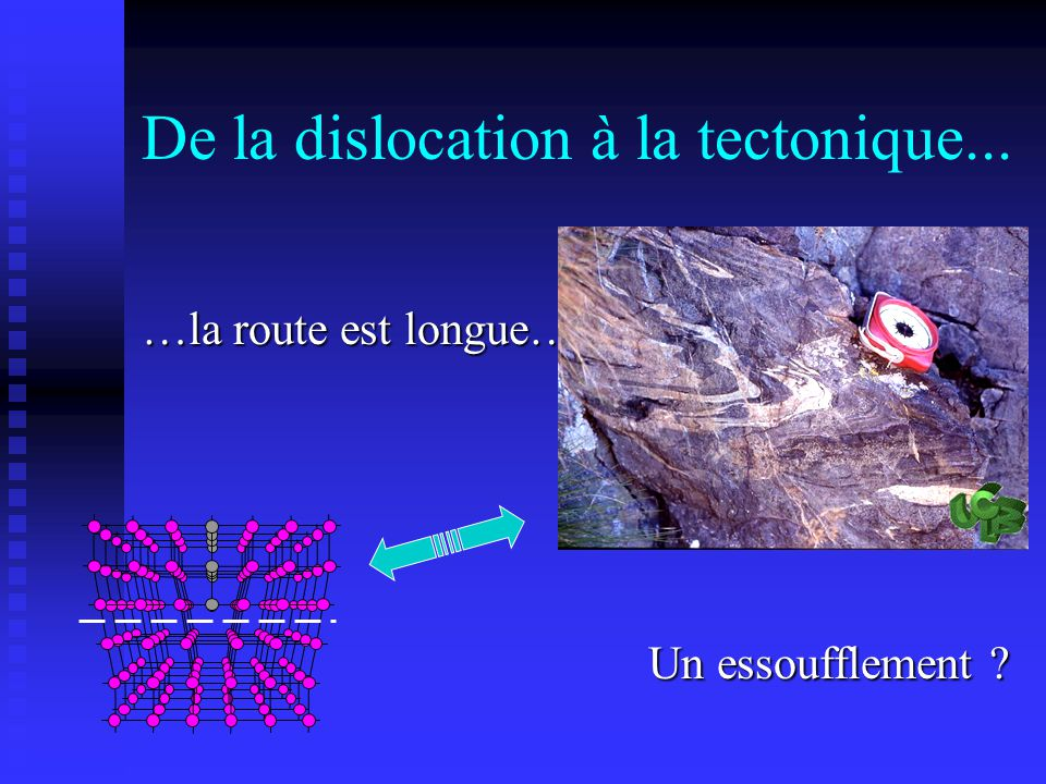 De la dislocation à la tectonique...