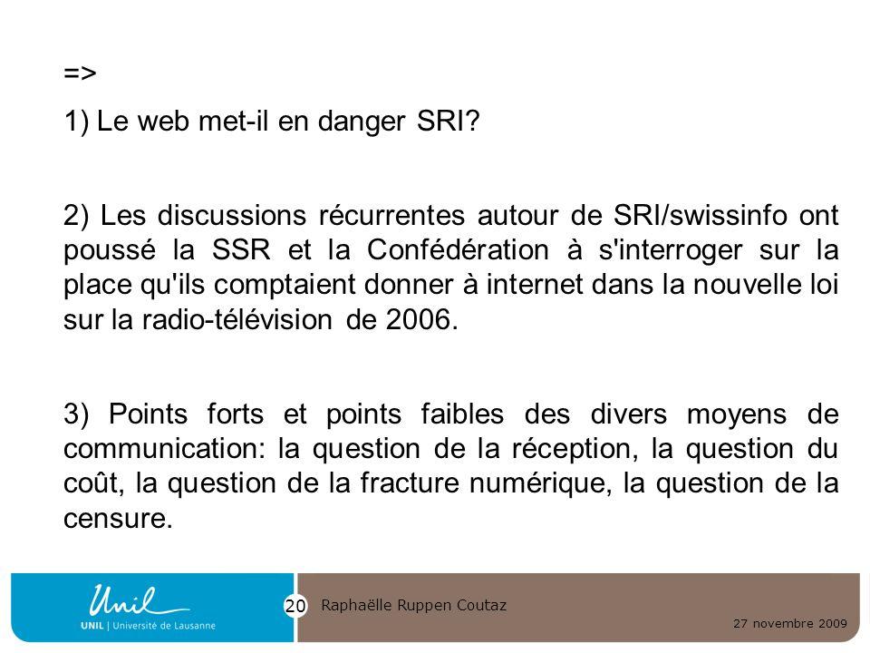 1) Le web met-il en danger SRI