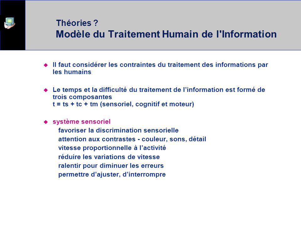 Théories Modèle du Traitement Humain de l Information