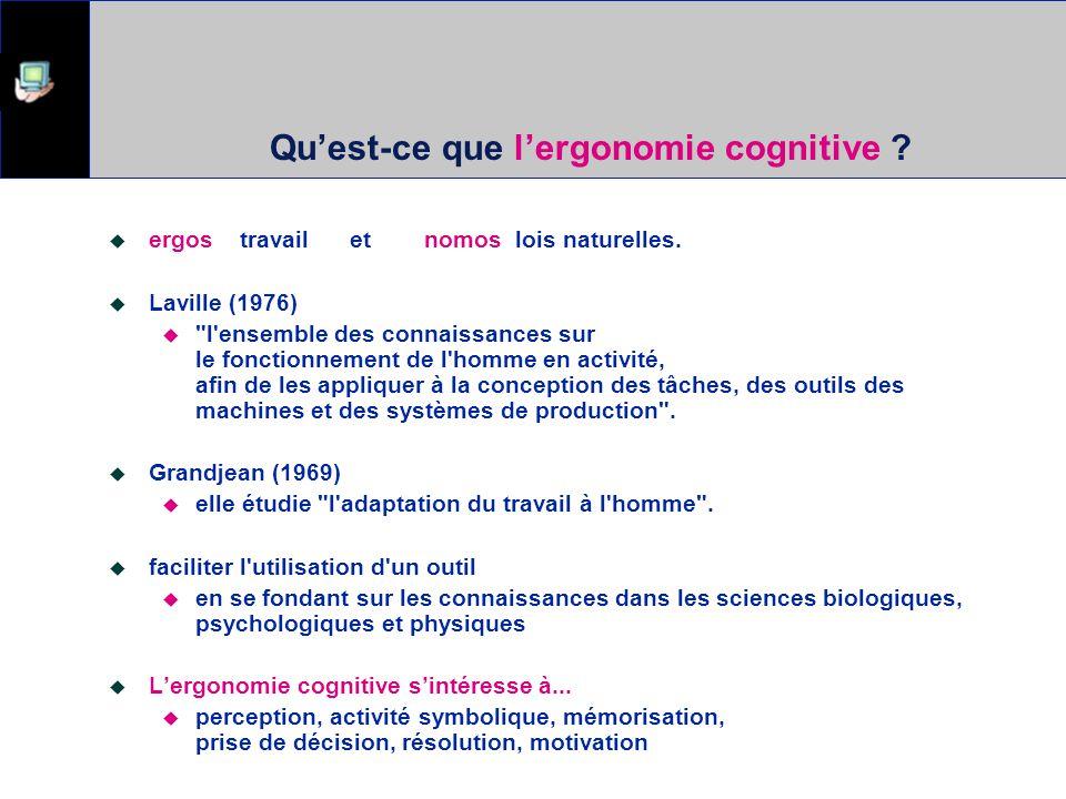Qu'est-ce que l'ergonomie cognitive