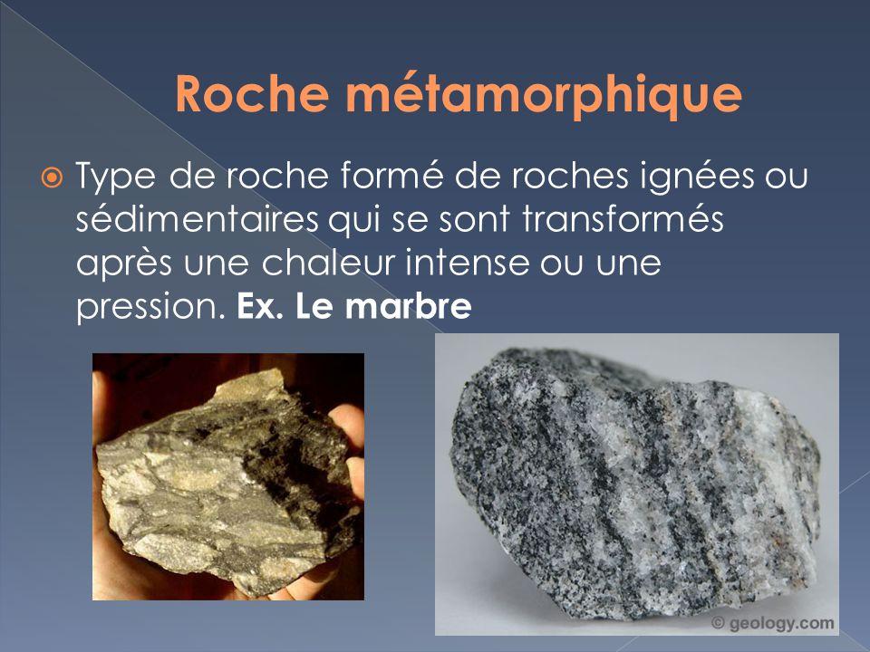 Roche métamorphique
