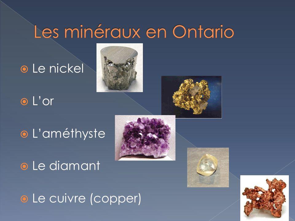 Les minéraux en Ontario
