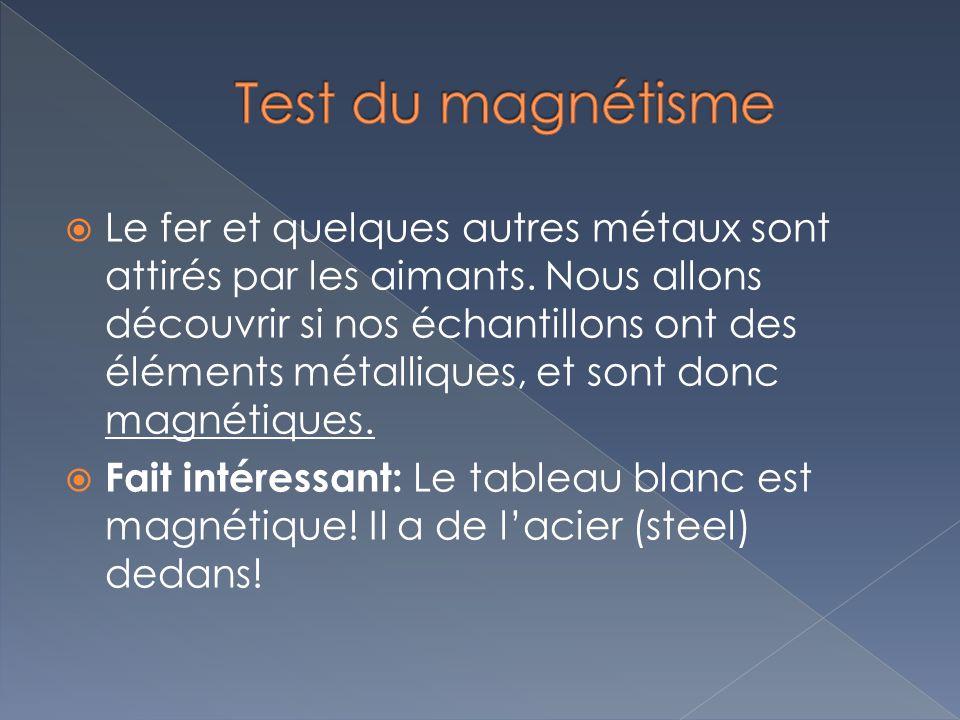 Test du magnétisme
