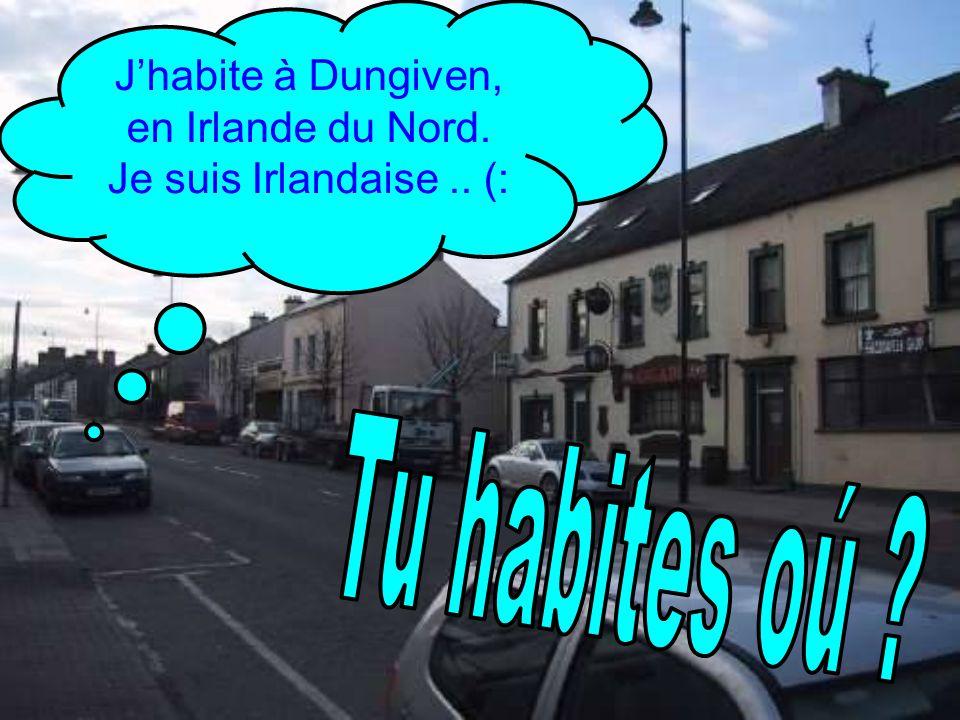 J'habite à Dungiven, en Irlande du Nord. Je suis Irlandaise .. (: