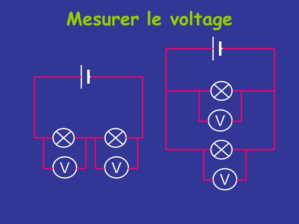 Mesurer le voltage V V V V
