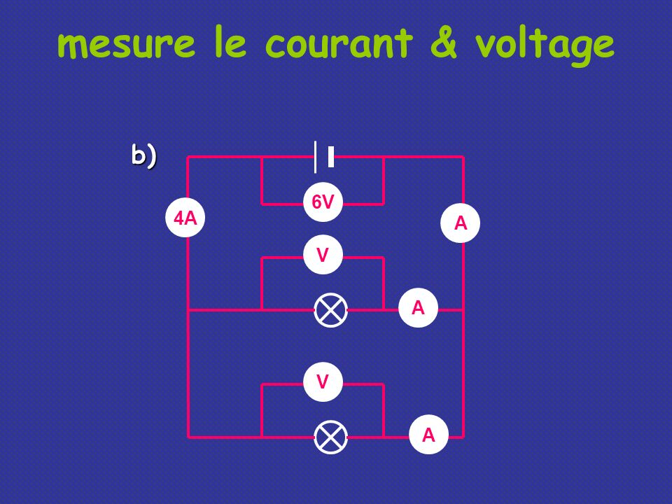 mesure le courant & voltage