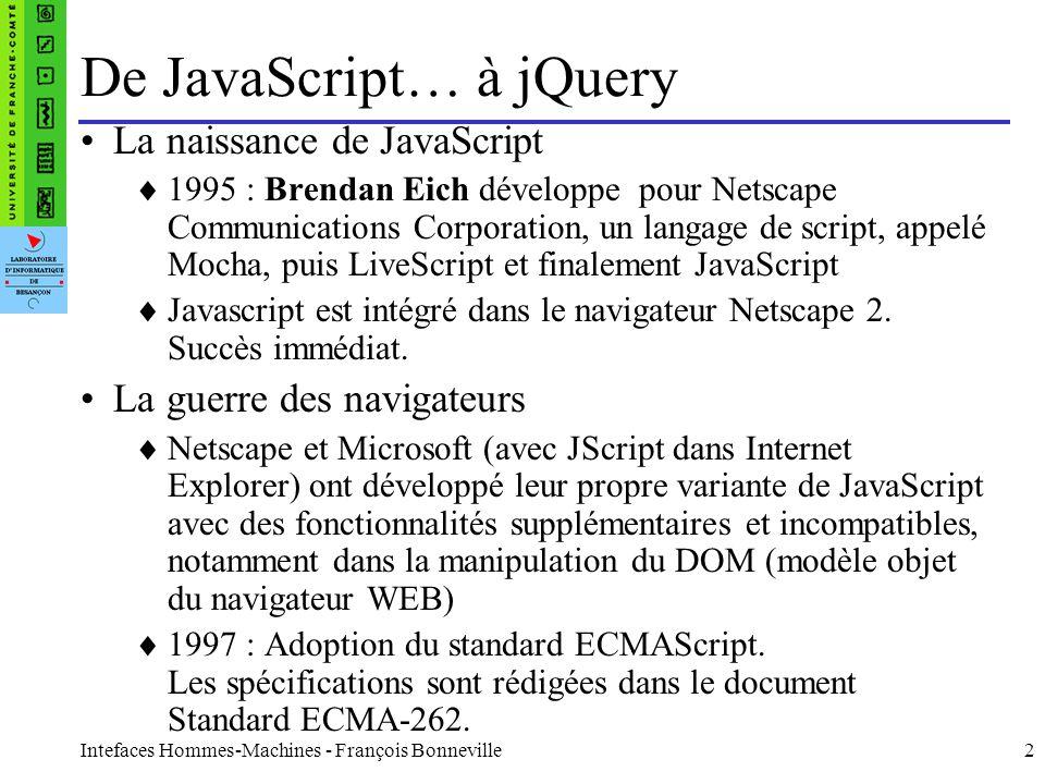 De JavaScript… à jQuery