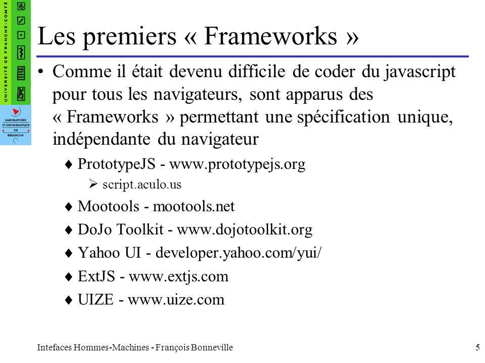 Les premiers « Frameworks »