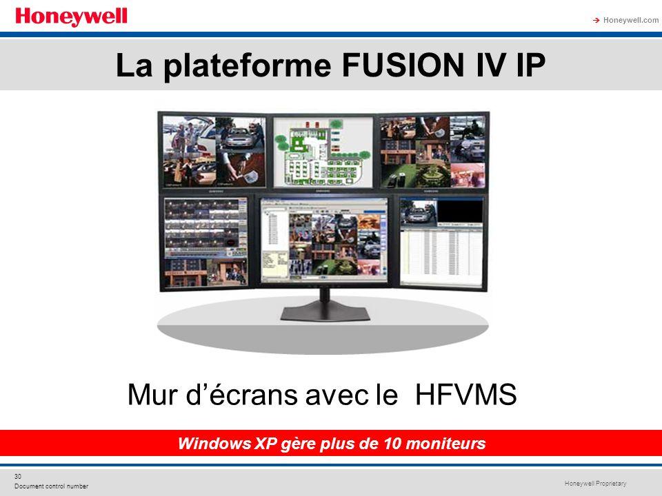 La plateforme FUSION IV IP Windows XP gère plus de 10 moniteurs