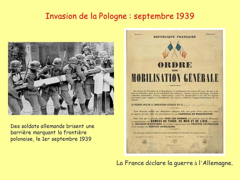 Invasion de la Pologne : septembre 1939