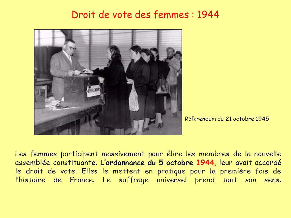 Droit de vote des femmes : 1944