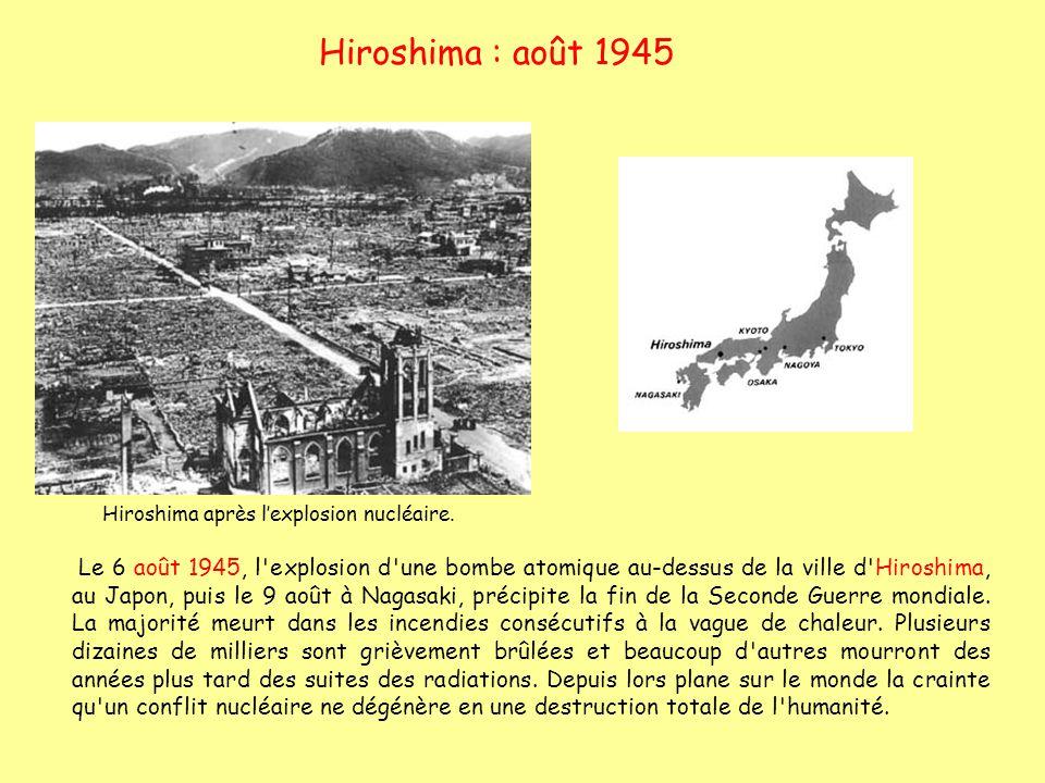 Hiroshima après l'explosion nucléaire.