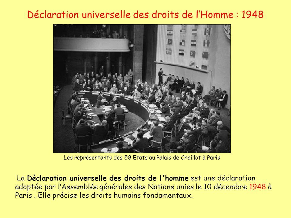 Déclaration universelle des droits de l'Homme : 1948