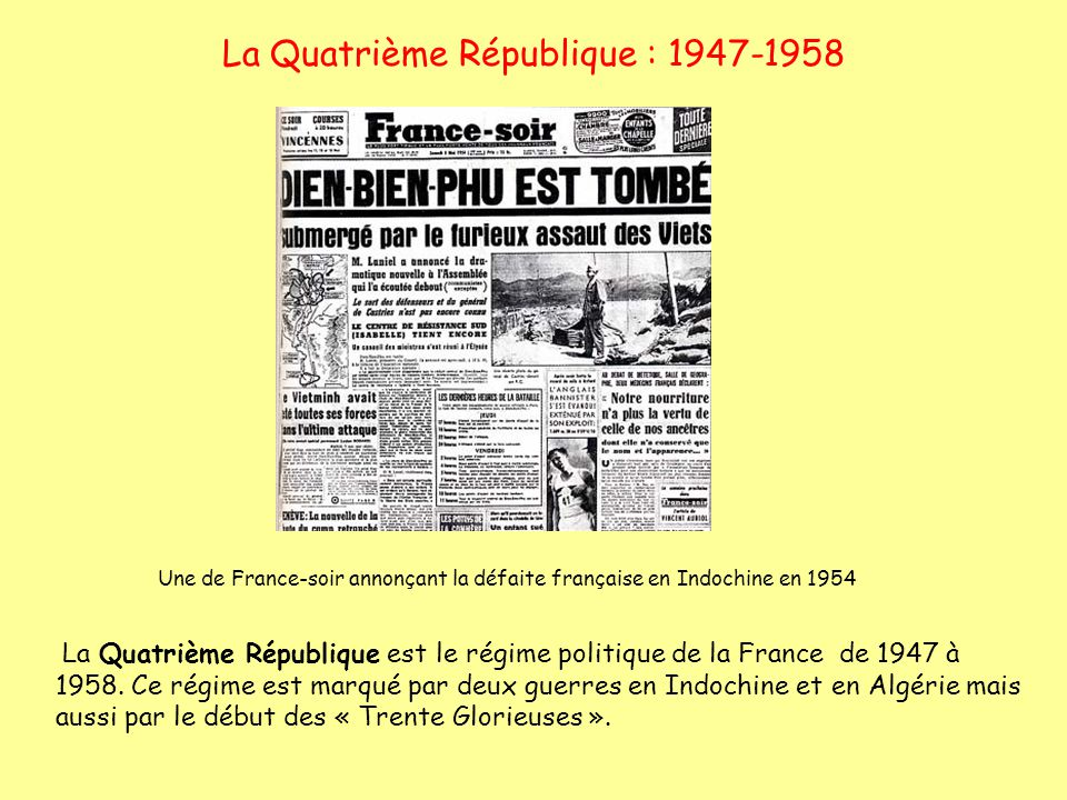 La Quatrième République : 1947-1958