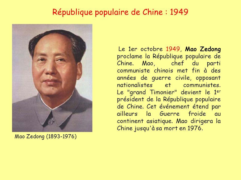 République populaire de Chine : 1949