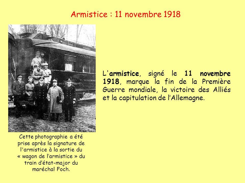 Armistice : 11 novembre 1918