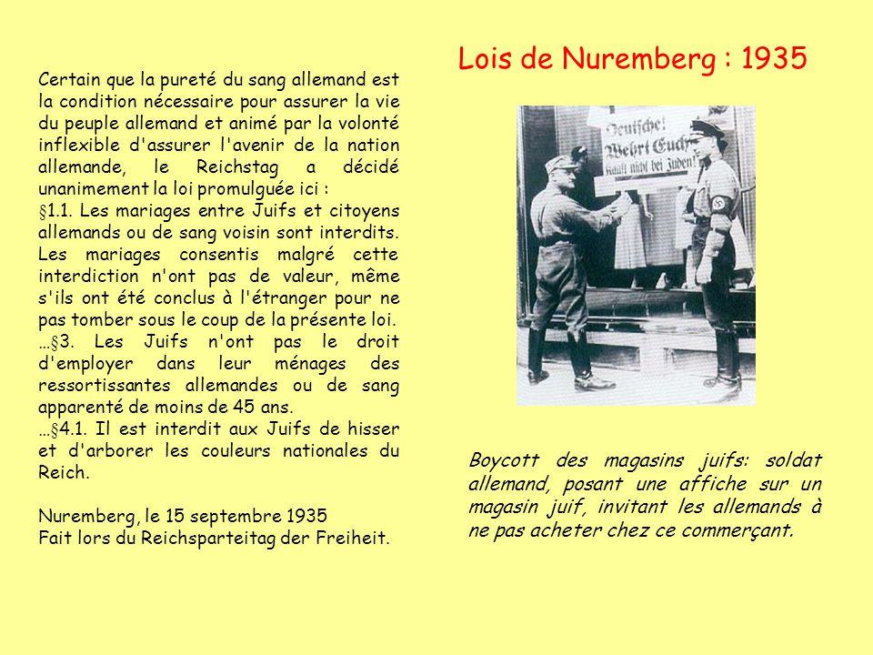 Lois de Nuremberg : 1935