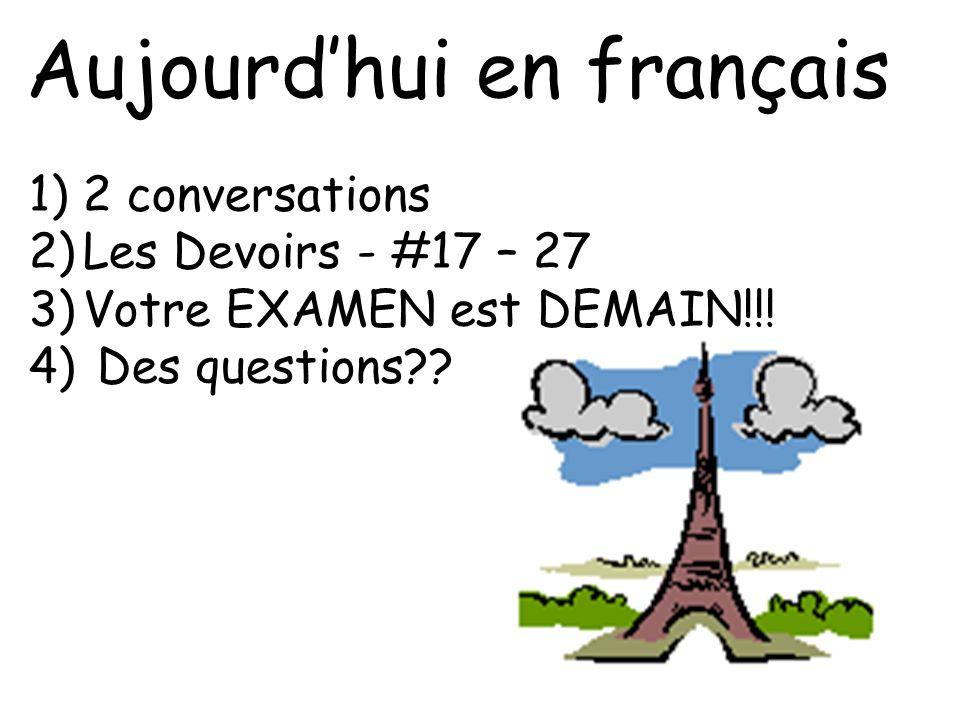 Aujourd'hui en français
