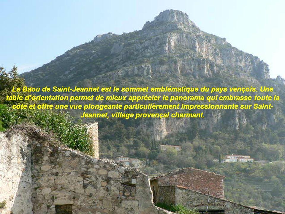Le Baou de Saint-Jeannet est le sommet emblématique du pays vençois