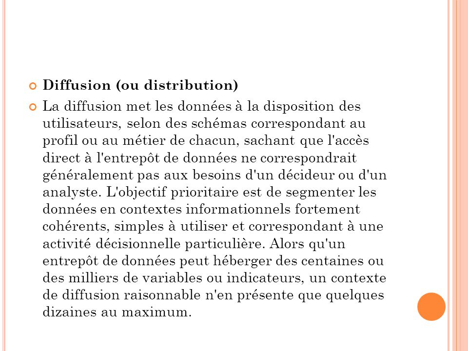 Diffusion (ou distribution)
