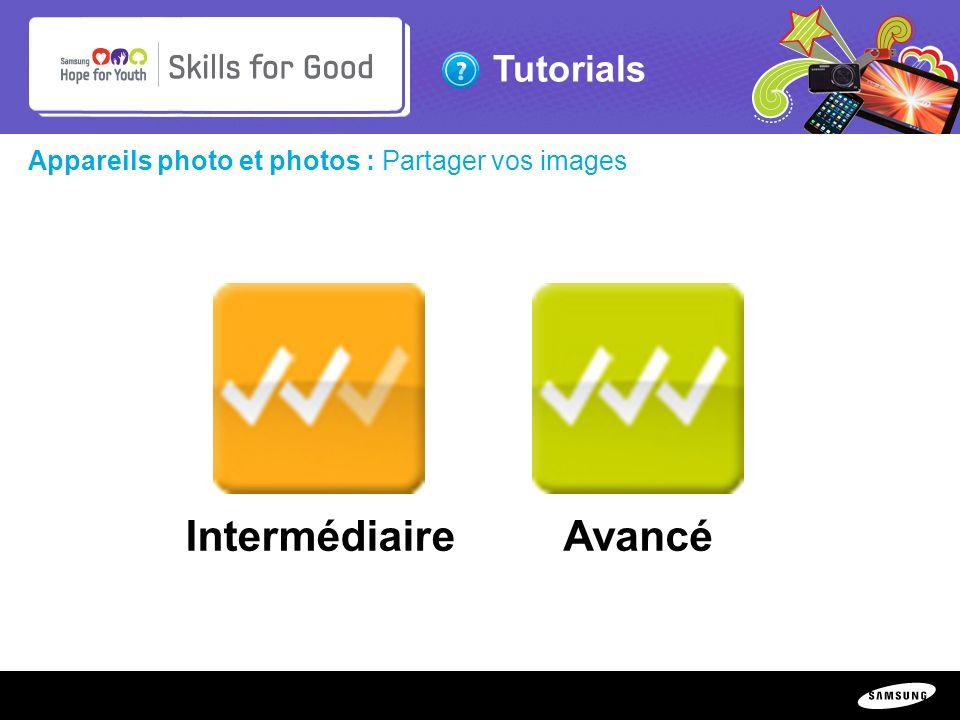 Intermédiaire Avancé Appareils photo et photos : Partager vos images