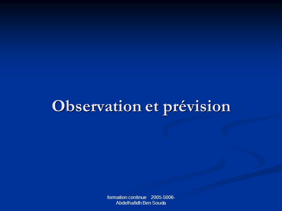 Observation et prévision