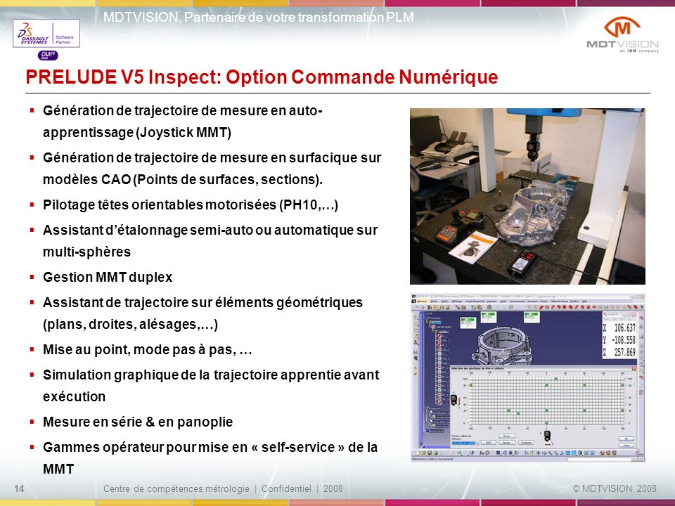 PRELUDE V5 Inspect: Option Commande Numérique