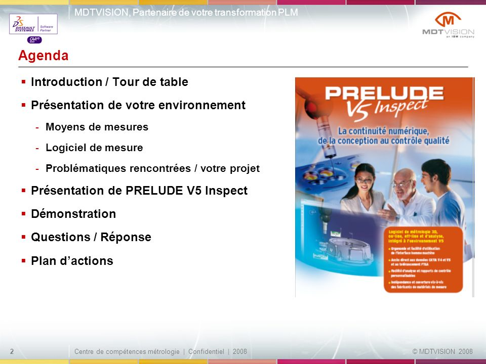 Agenda Introduction / Tour de table