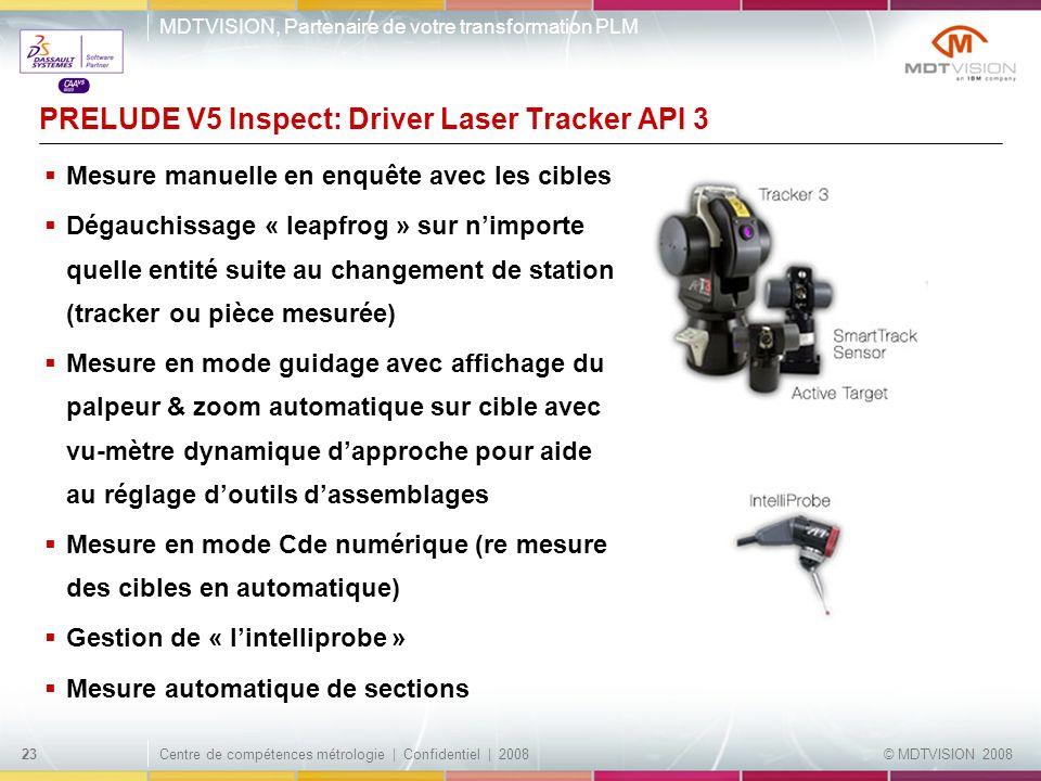 PRELUDE V5 Inspect: Driver Laser Tracker API 3