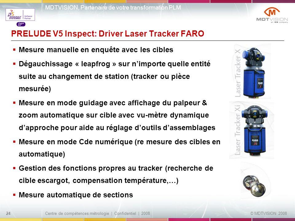 PRELUDE V5 Inspect: Driver Laser Tracker FARO