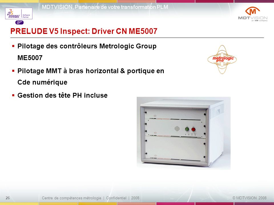 PRELUDE V5 Inspect: Driver CN ME5007