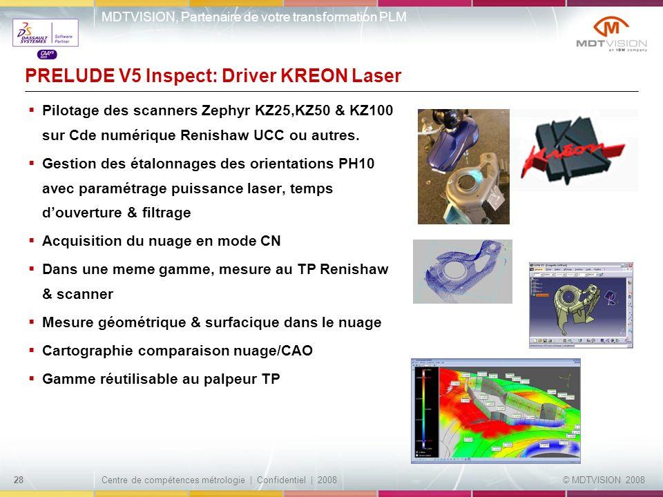 PRELUDE V5 Inspect: Driver KREON Laser