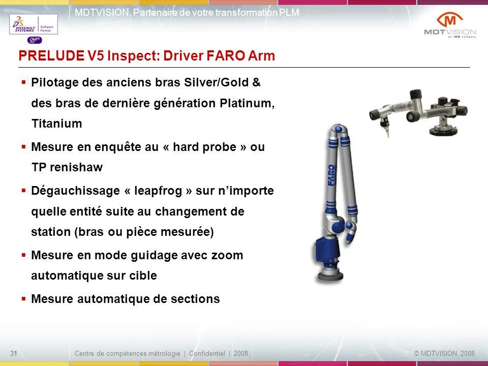 PRELUDE V5 Inspect: Driver FARO Arm