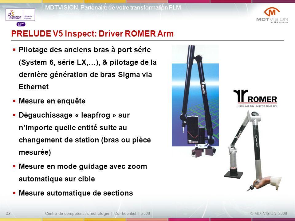 PRELUDE V5 Inspect: Driver ROMER Arm