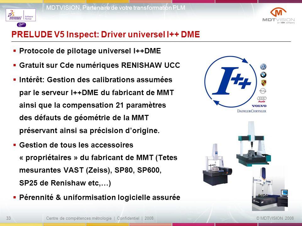 PRELUDE V5 Inspect: Driver universel I++ DME