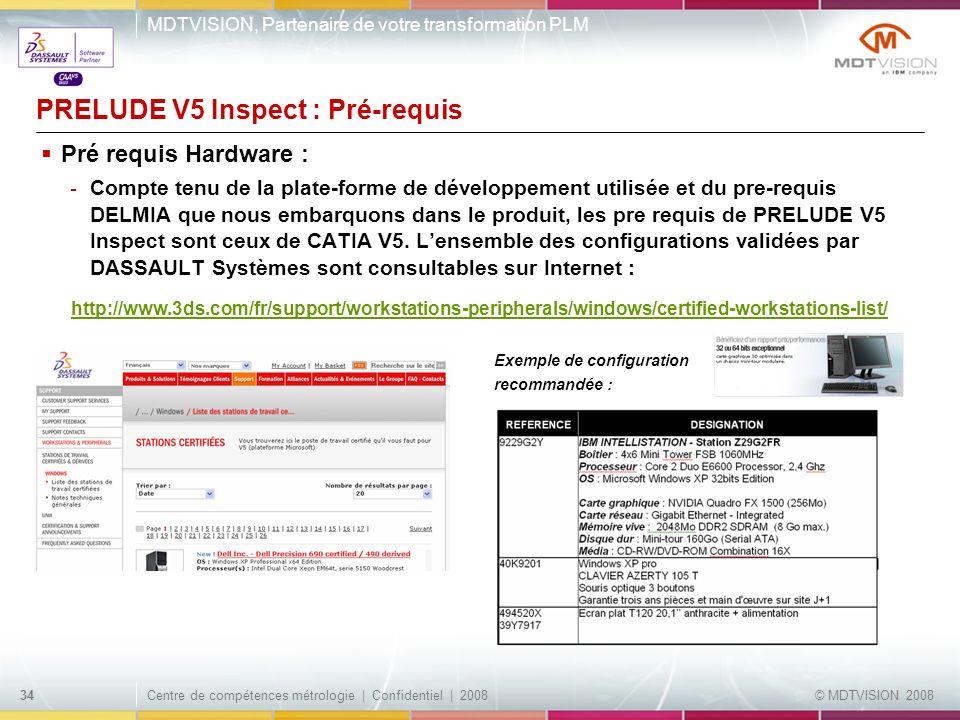 PRELUDE V5 Inspect : Pré-requis