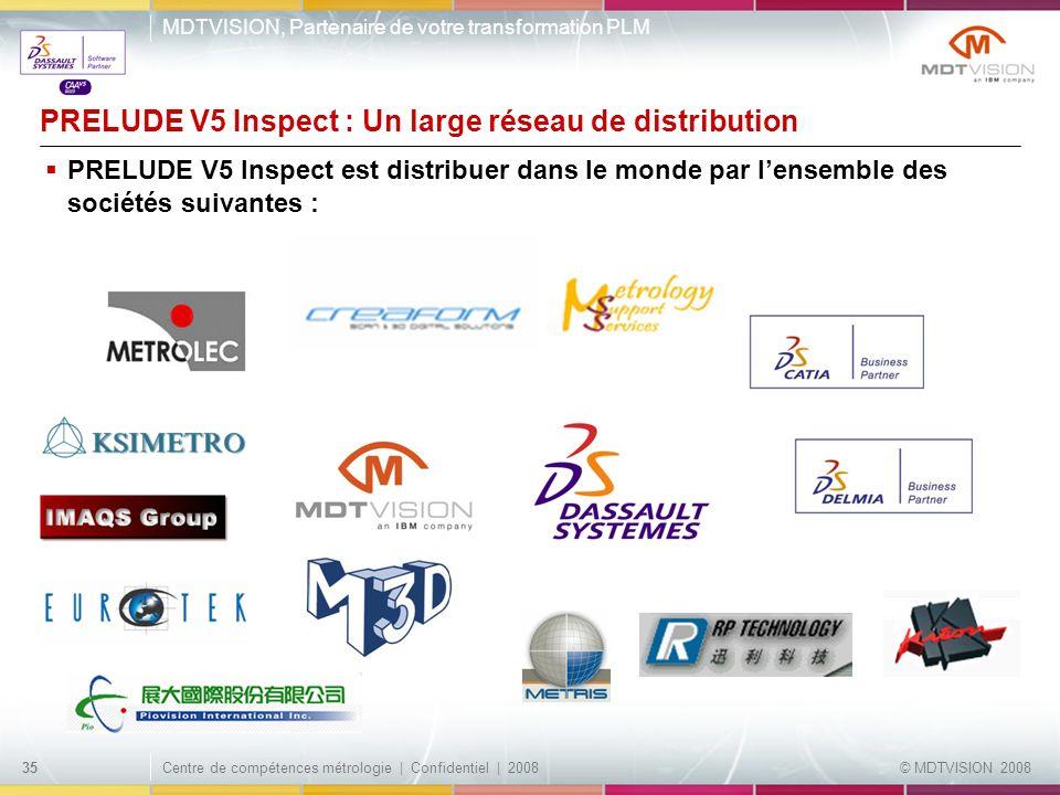 PRELUDE V5 Inspect : Un large réseau de distribution