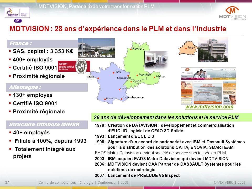 MDTVISION : 28 ans d'expérience dans le PLM et dans l'industrie