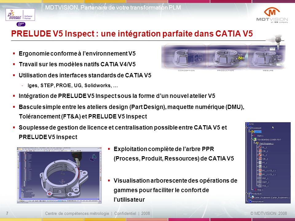 PRELUDE V5 Inspect : une intégration parfaite dans CATIA V5
