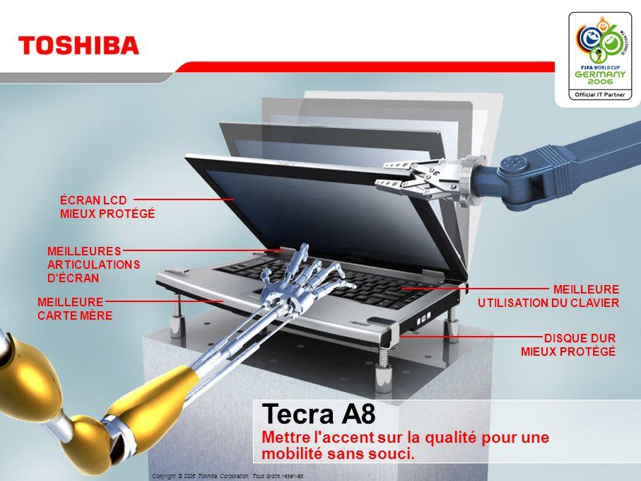 Tecra A8 Mettre l accent sur la qualité pour une mobilité sans souci.