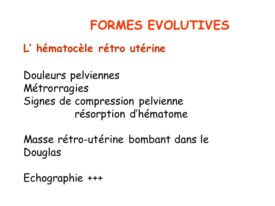 FORMES EVOLUTIVES