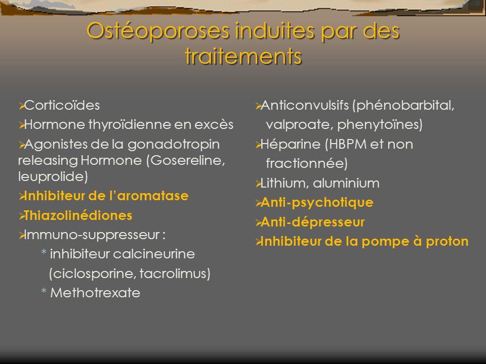 Ostéoporoses induites par des traitements