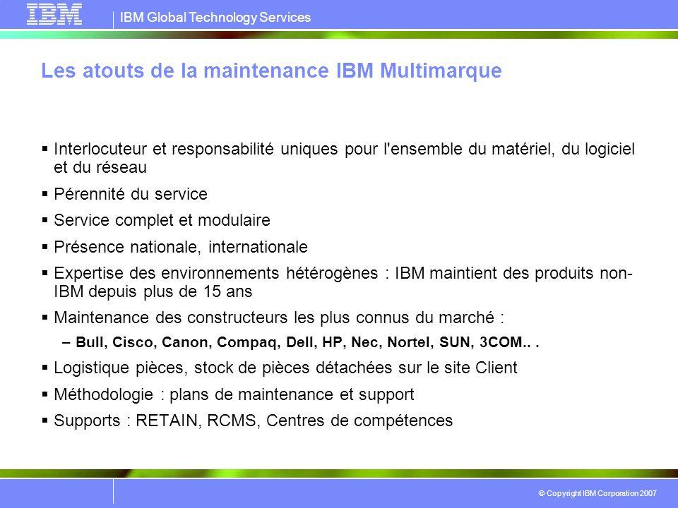 Les atouts de la maintenance IBM Multimarque