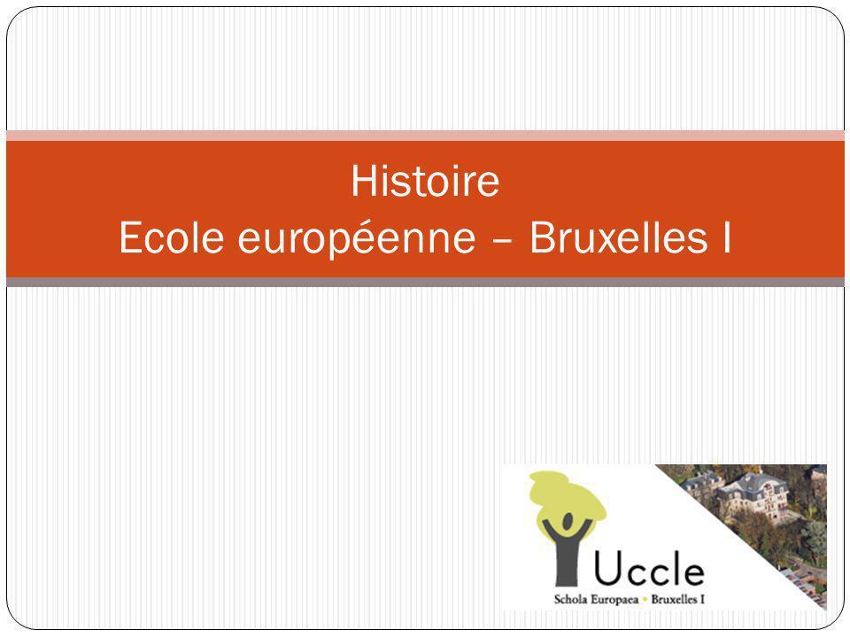 Histoire Ecole européenne – Bruxelles I