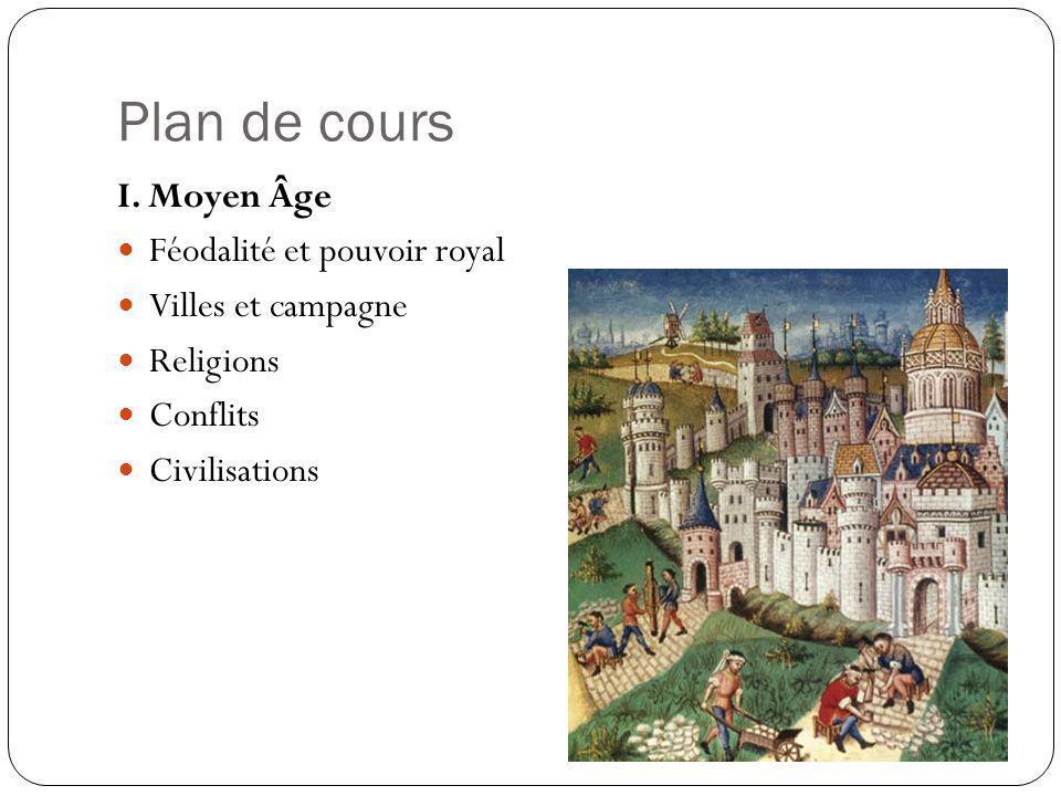 Plan de cours I. Moyen Âge Féodalité et pouvoir royal