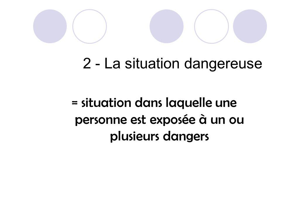 2 - La situation dangereuse